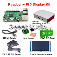 Original Raspberry Pi 3 Model B Display Kit With 5 Inch 800 480 HDMI Touch Screen