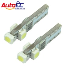 AutoEC 100 x Car Wedge Lights LED Autolamps T5 W5W 3 LED SMD3528 45lm 12V 6colors Blue White Yellow Red Green Pink #LA10