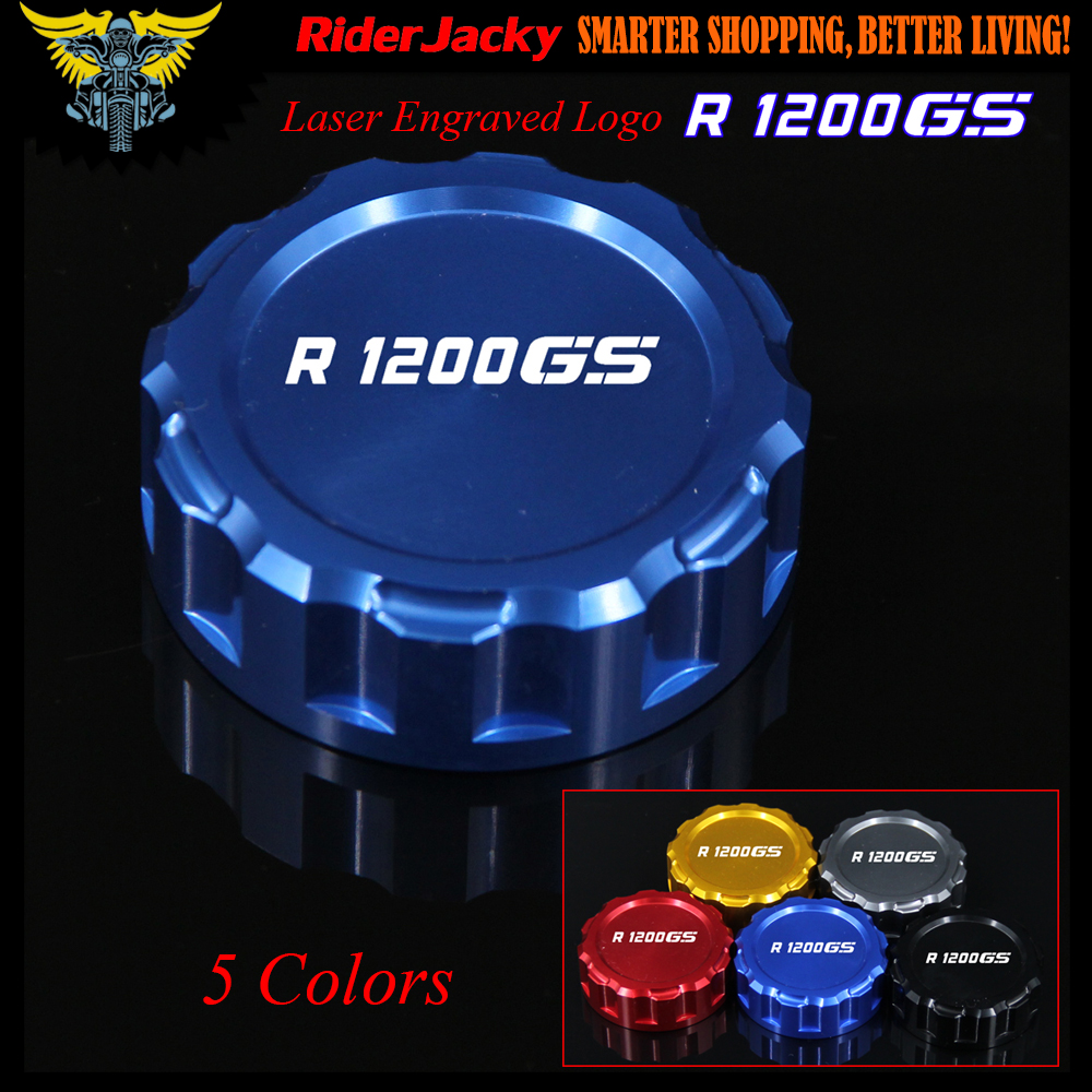 CNC Blue Red Black Golden Titanium Motorcycle Rear Brake Reservoir Cover Cap For BMW R1200GS R 1200 GS 2004-2016 2013 2014 2015 cy u2 014 wh down right angled 90 degree usb a female to male adapter white