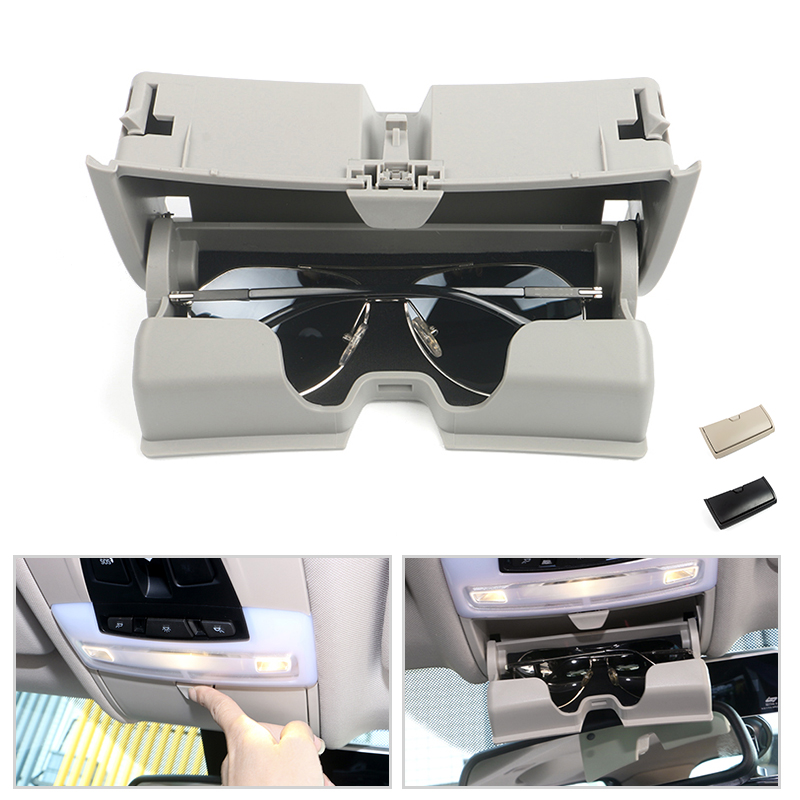 Car Dome Light Sunglasses Holder Glasses Case Cage Organizer Storage Box Special For BMW X5 X6