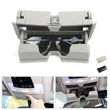 Car Dome Light Sunglasses Holder Glasses Case Cage Organizer Storage Box Special For BMW X5 X6 F15 F16 2014 2015 2016 2017