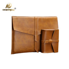 ФОТО Mimiatrend   Vintage  Leather Bag for  Apple Macbook Air Pro 11 13 15 Inch laptop Sleeve Pouch
