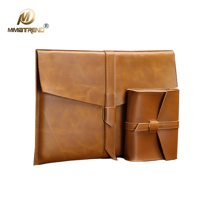 Mimiatrend High Quality Vintage Genuine Leather Bag For 2016 Apple Macbook Air Pro 11 13 15