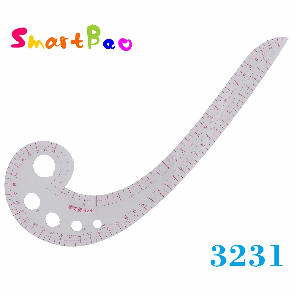 Plastic 42cm Curve Ruler Comma Patchwork Ruler  ;  # 3231