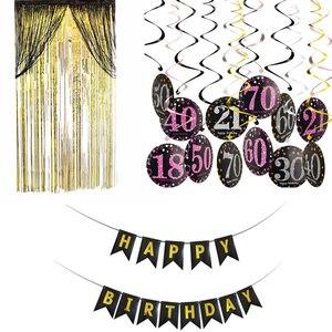 Image 1 - Decoración de cumpleaños de individualidad, Set de adornos colgantes para fiesta de cumpleaños de 18, 30, 40, 60 y 70, decoración de fiesta de cumpleaños