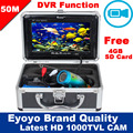 "Free Shipping!Eyoyo SY7000DVR 50M 1000TVL HD CAM Professional Fish Finder Underwater Fishing Video Recorder DVR 7"" Color Monitor"