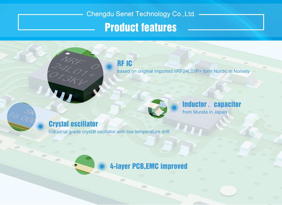 E01-ML01DP5 SPI nRF24L01+PA+LAN Module (2)