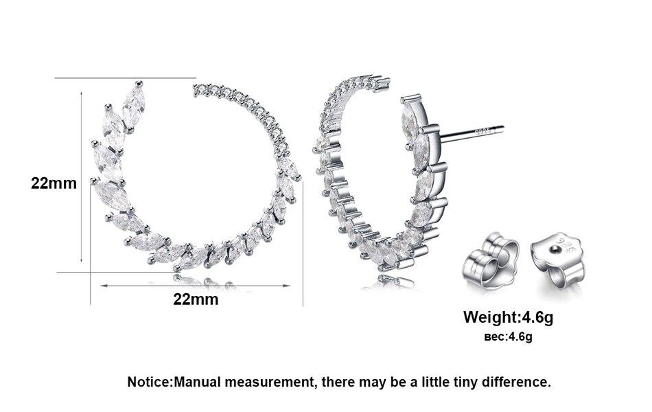 86cdfa5c7 ORSA JEWELS Fashion Round Shape Stud Earrings Luxury Brand Solid ...