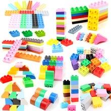 Diy 6 pçs/lote fundação duploe tijolos de grande partícula blocos de construção acessórios educacionais duploed brinquedos para crianças