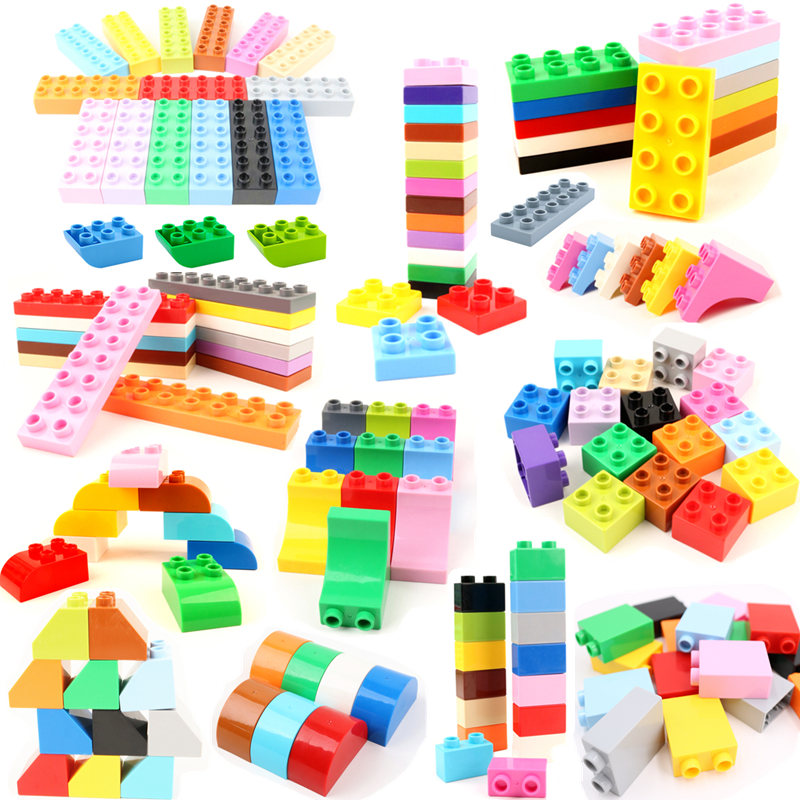 Diy 6pcs/lot Foundation Duplo LegoINGlys Bricks Large Particle Building Blocks Accessories Educational Duploed Toys For Children