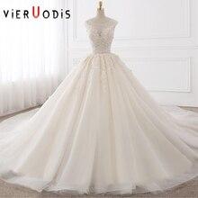 Vieruodis White Gown Ivory Royal Train Wedding Dresses