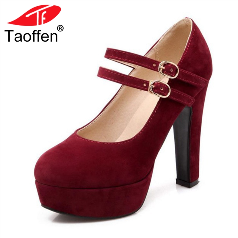 TAOFFEN women stiletto high heel shoes sexy lady platform spring fashion heeled pumps heels shoes plus big size 31-47 P16737 size 35 43 women high heel shoes wedding bridal flower platform heeled lady pumps fashion diamond heels shoes eur d5614