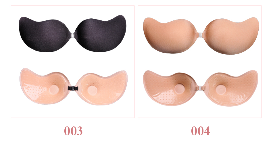 GIRLADY Sexy Breast Petals Invisible Strapless Bra Ladies Adhesive Silicone Bra Black Backless Push Up Bra Women Light Cozy New 11