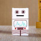 Wood Robot music box piggy bank music box pen box music box sweet gifts for children