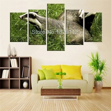 New Product! 5 Panels Kawaii Animal Wall Art Paintings Print Oil Picture Artwork For Lovely Baby Room With No Frame Home Decor