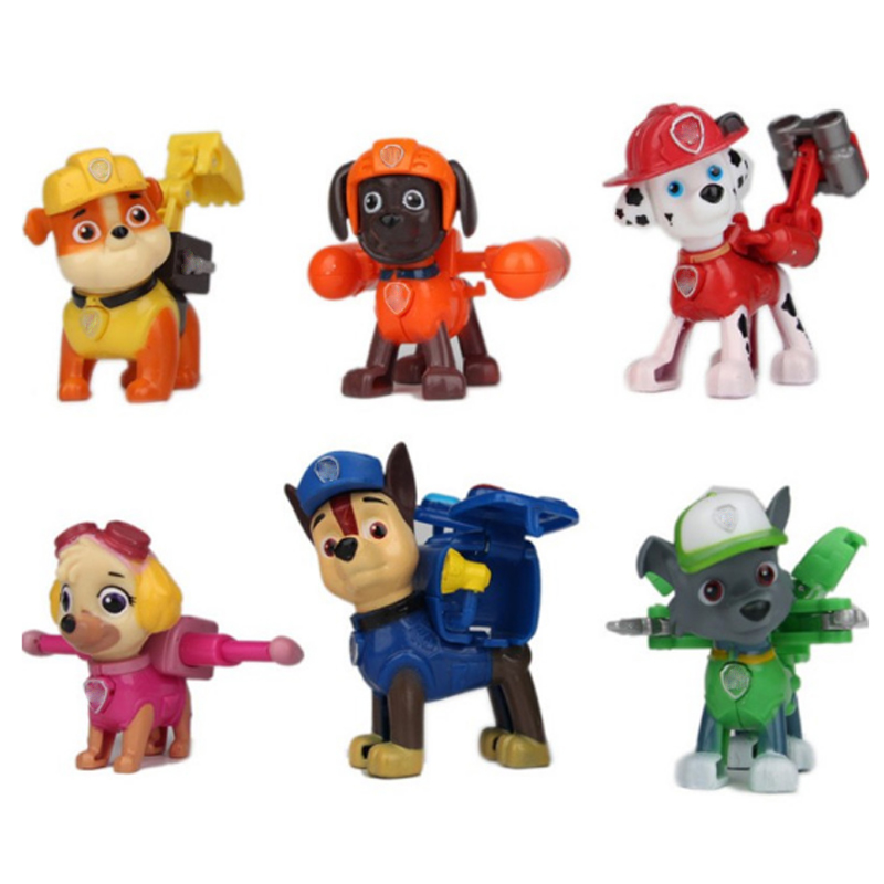 2018 New 6Pcs/set PAW Patrol Dog Patrulla Canina Anime Classic Toy  Action Figures Christmas gifts for children C8 20cm canine patrol dog toys russian anime doll action figures car patrol puppy toy patrulla canina juguetes gift for child m134