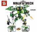2017 Ghost Ninja Ninjagoes Mech 2en1 Alma Amored Ninja Cole Zane Morro Compatible Con Legoes Bloque de Construcción de Juguetes Para Los Niños