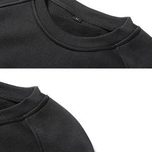 Image 5 - MFERLIER 男性スウェットフリース暖かい 5XL 6XL 大型ビッグ秋無地コットンなしフード付き黒