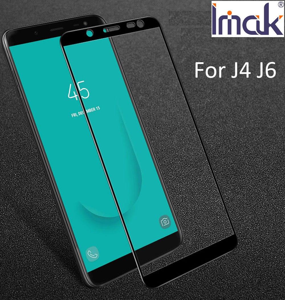 imak Pro+ Full Screen Glue Cover Protective Tempered Glass For Samsung Galaxy J4 J6 J8 J400F J600F 2.5D Curved oleophobic