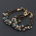 Bohemia Multilayer Beads Dangle Brincos 925 Agulhas de Alta Qualidade Das Mulheres Do Vintage Jóias de Prata Esterlina