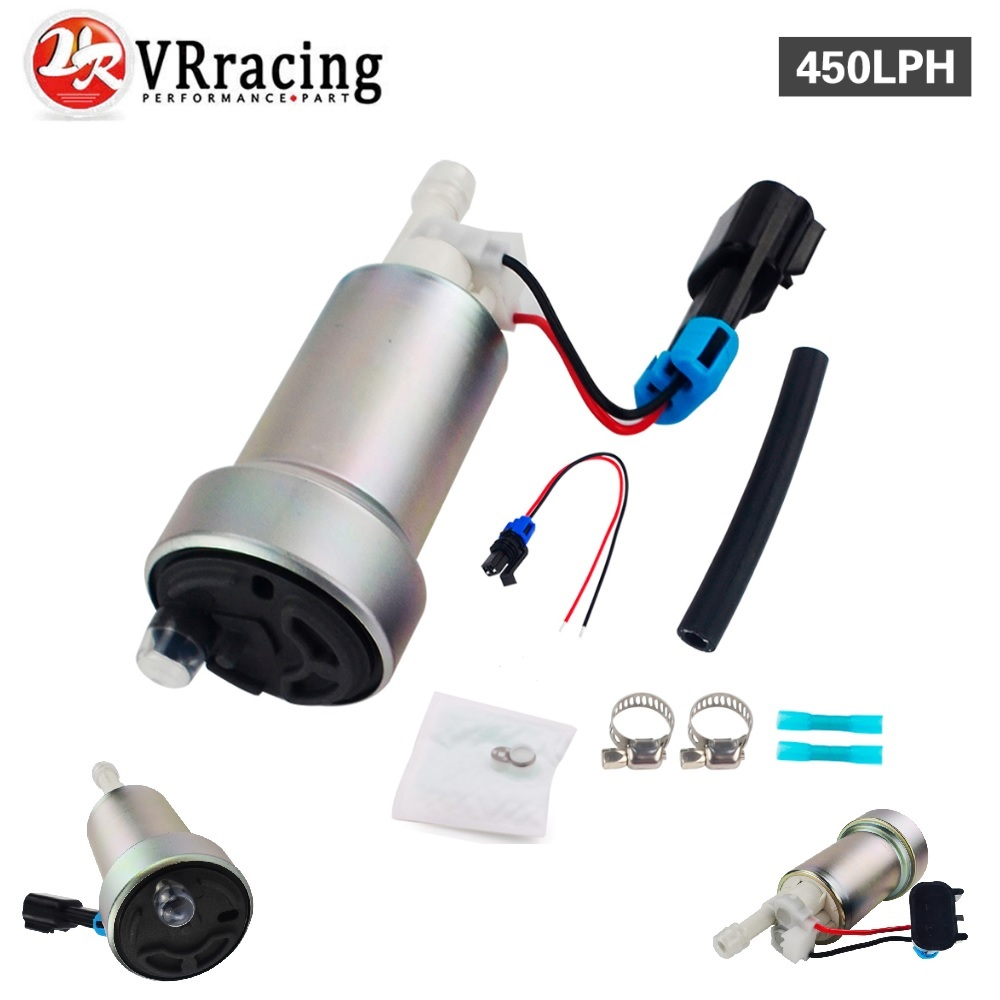 VR RACING-E85 Racing interne Haute Performance Pompe À Carburant 450LPH F90000267 et Installer Kit VR-FPB007