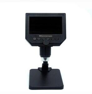 """Image 4 - 600X microscopio usb microscopio video digitale della macchina fotografica 8 LED VGA Microscopio per la saldatura Con 4.3 """"HD Schermo OLED G600"""
