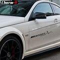 2 個メルセデスベンツ AMG スポーツ限定版レーシングビニールデカールステッカー W204 W205 C63 C117 W176 A45 CLA45 ドアステッカー