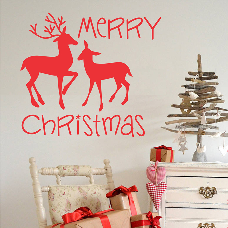 ₪Christmas Wall Decal Home ⊱ Decor Decor Wall Stickers ...