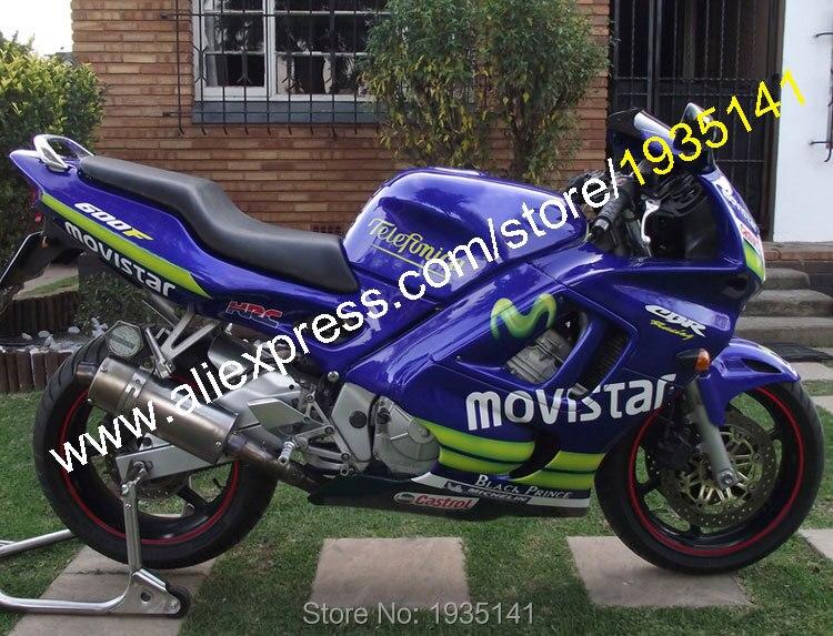 Горячие продаж,для Honda CBR600 F3 в 1997 1998 CBR600F3 97 98 ЦБ РФ 600 F3 Мовистар неоригинальные Спортбайк обтекатель комплект (литья под давлением)