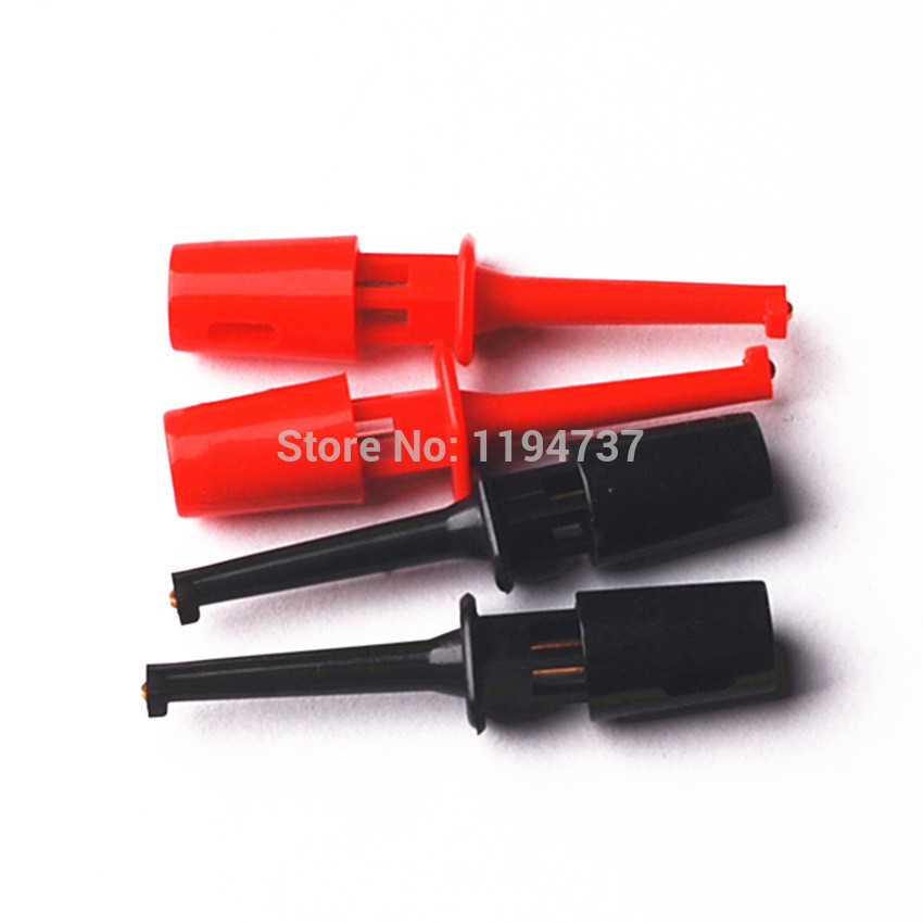 5pair=10pcs New Multimeter Lead Wire Kit Test Hook Clip Grabbers Test Probe SMT/SMD IC D20 Cable Welding