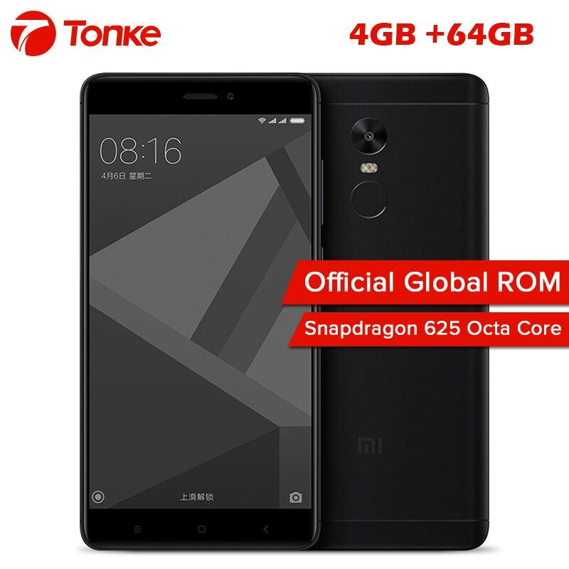"""Новые Xiaomi Redmi Note 4x4 ГБ 64 ГБ мобильный телефон Snapdragon 625 Octa Core 5.5 """"FHD 13MP отпечатков пальцев глобальной прошивки MIUI 8.1"""