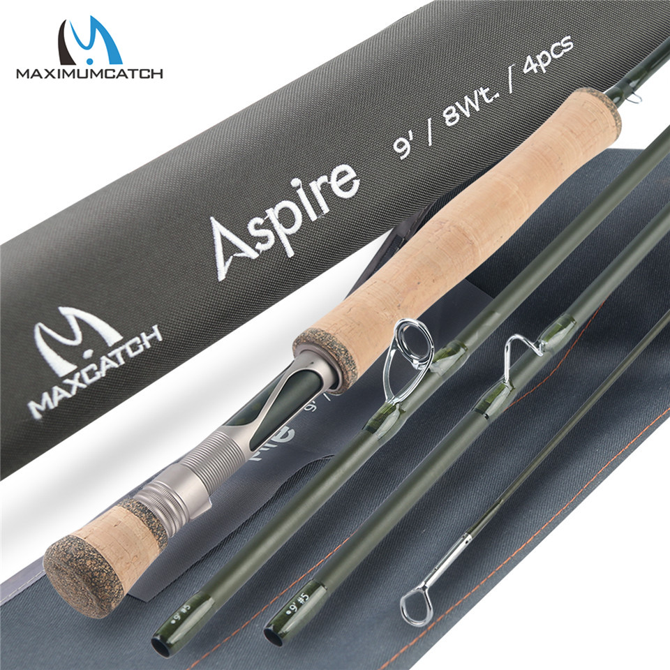 Maximumcatch 5 6 8wt Aspire Fly Fishing Rod 9FT 40T Carbon Fiber Fast Action Fly Rod
