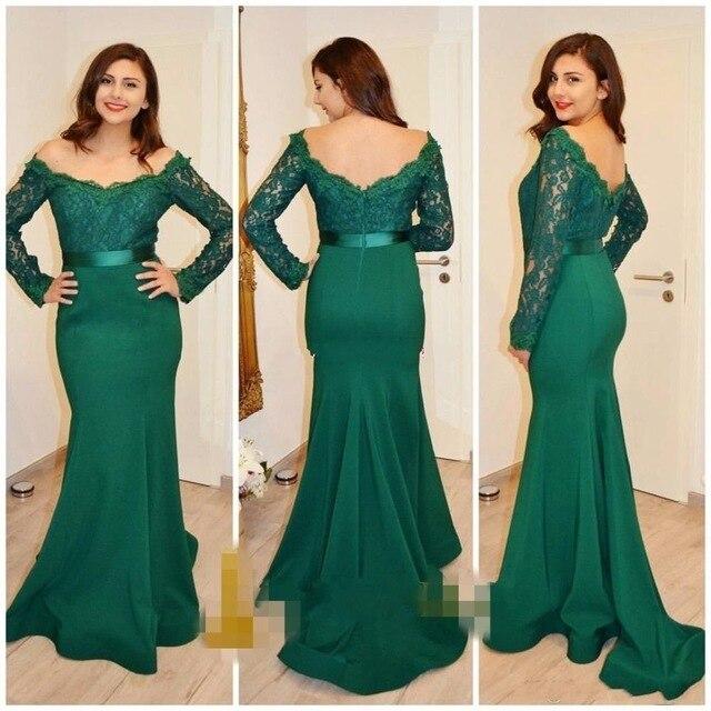 Vestido De Fiesta 2017 Moda De Encaje De Color Verde Oscuro
