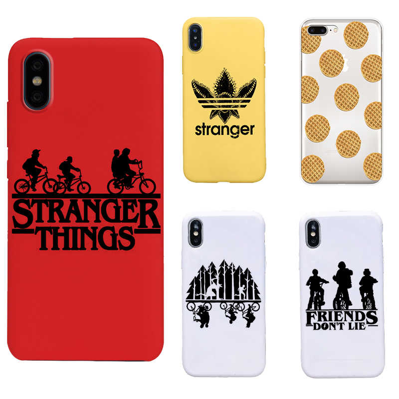 stranger things 3 Black soft TPU Cover Phone Case for iPhone 8 7 6 6S Plus X XS XR MAX 5 5S SE