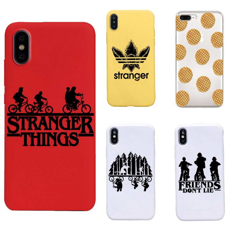 <font><b>stranger</b></font> <font><b>things</b></font> 3 Black soft TPU Cover <font><b>Phone</b></font> <font><b>Case</b></font> for iPhone11 pro max 8 7 6 6S Plus X XS <font><b>XR</b></font> MAX 5 5S SE image