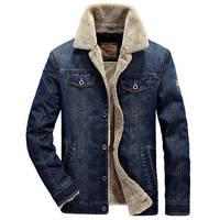 Denim Jacket Men New 2017 Winter Brand Fashion Jeans Parka Coat Mens Bomber Jacket Thick Warm