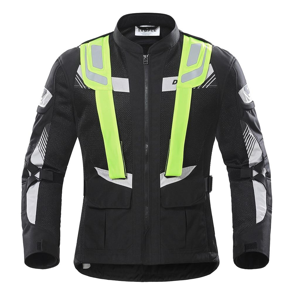 DUHAN Moto vestes hommes été Moto équipement de protection respirant maille réfléchissante équitation Moto vêtements Moto veste