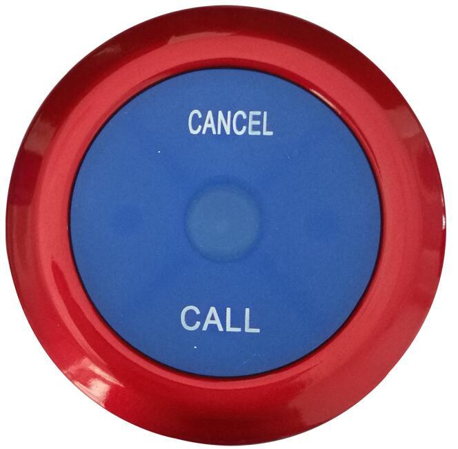 10 шт. 433 МГц ультра тонкий ресторанный пейджер Беспроводная кнопка вызова официанта система вызова пейджер с кнопками два ключа ресторанное оборудование питание - Цвет: red-blue