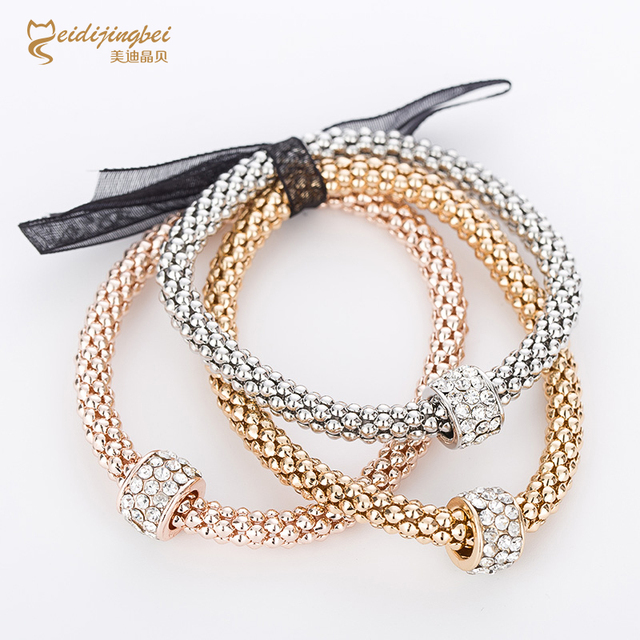 2017 hot sale fashion snake chain bracelets and bangles plating rose gold women marry party and silver bracelet