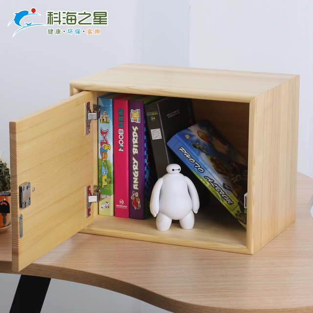 Solid Wood Wooden Box With Lock Wood Cabinet Storage Cabinets Small Lockable  Case Storage Box Containing
