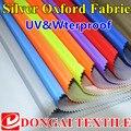 300D oxford tela impermeable de plata uv para la sombra del sol, sombrilla de tela Oxford