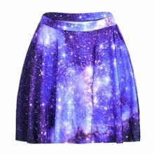 4ee8974bd22ec 1188 Summer Women Plus Size Pleated Mini Skater Skirt Sexy Girl Cheerleader  TuTu Skirt Galaxy Blue