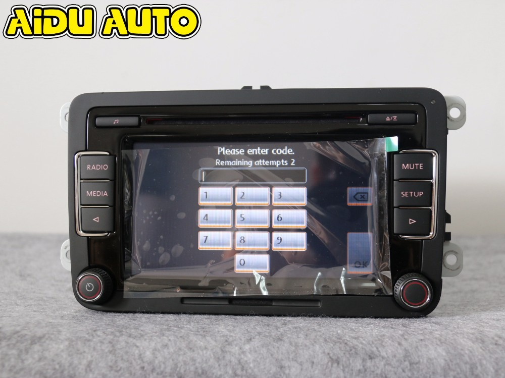 AIDUAUTO Stereo Autoradio RCD510 USB Lettore MP3 USB AUX PER VW Golf 5 6 Jetta MK5 MK6 CC Tiguan Passat Polo - 3