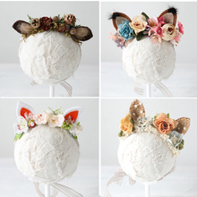 Get more info on the 2019Baby Flower Headbands Newborn Photography Props for Girls Fox Ear Floral Crown Deer Fur Halo Prop Infant Unicorn Accessories