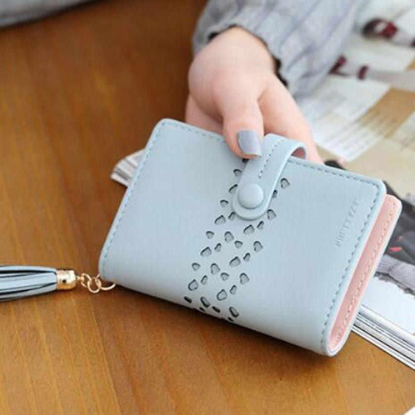 a85baade69528 Сумки для Для женщин 2018 монету женский Carteira модные женские туфли  кошелек кожаный мешок карты кисточкой