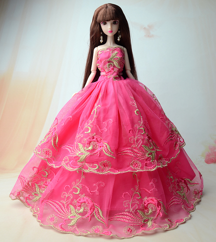 NK One Pcs 2017 Latest Doll Princess gown finest reward for Barbie doll Weddin type outfit