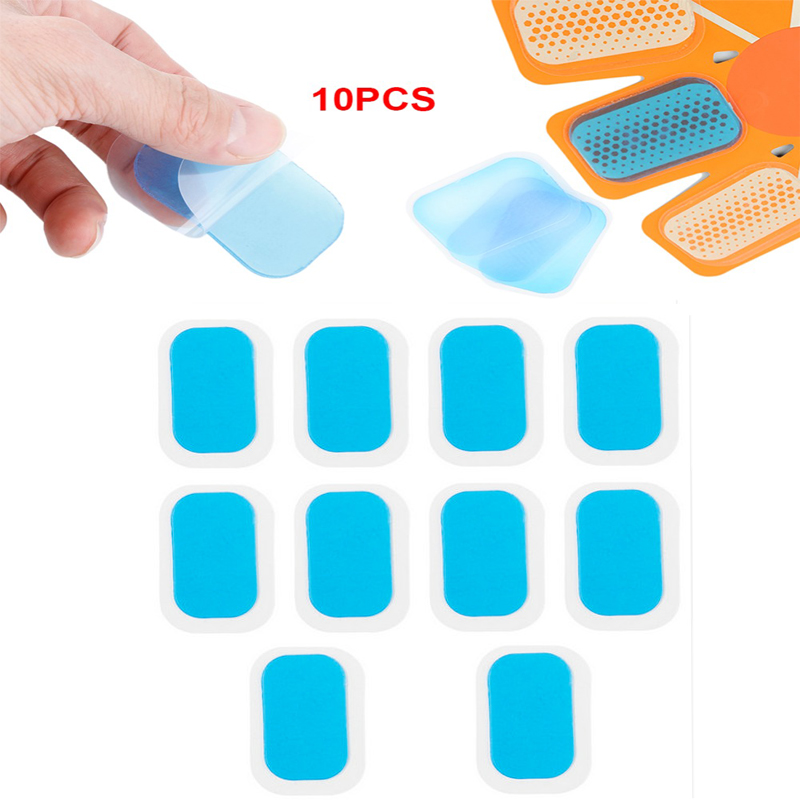 10pcs Silicone Hydrogel Mat For Wireless Smart Abdominal Muscle Replecament Gel Sticker Patch Pads Massager Fitness Accessories