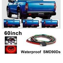 60 дюймов красный/белый гибкий 5-Функция багажника Светодиодные ленты свет бар для обратного хода Тормозная поворотник для пикап Внедорожник
