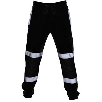 Spodnie do joggingu męska pełna odzież sportowa spodnie robót drogowych o wysokiej widoczności kombinezony dorywczo kieszeń na co dzień workowate spodnie dresowe spodnie męskie tanie i dobre opinie CLASS OF 2030 Cargo pants Pełnej długości Mieszkanie REGULAR Poliester Midweight Batik NONE Niskie Sznurek