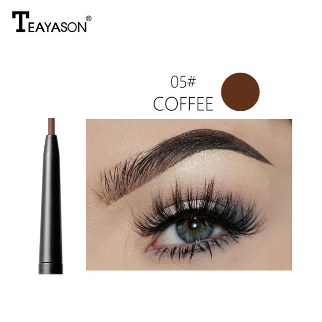 Dual ended automatic eyebrow pencil waterproof long lasting 1.5mm super slim head Microblading eyebrow tatto pen 4